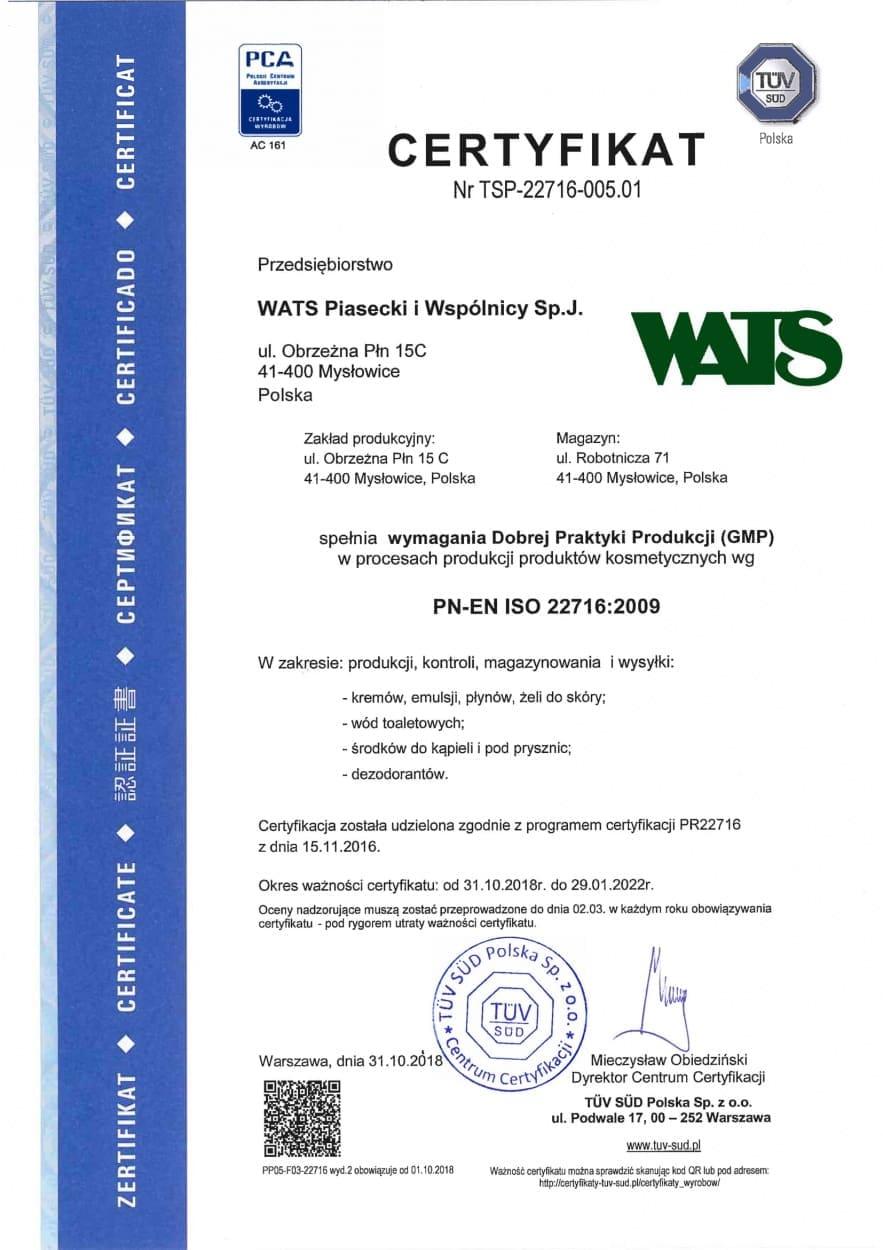 Certyfikat GMP